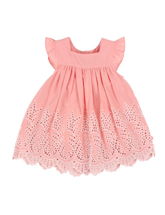 Girls Alexa Dress W/ Lace (3-24M)