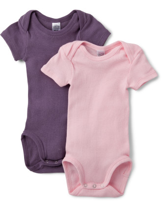 Short Sleeve Bodysuit Pack of Two