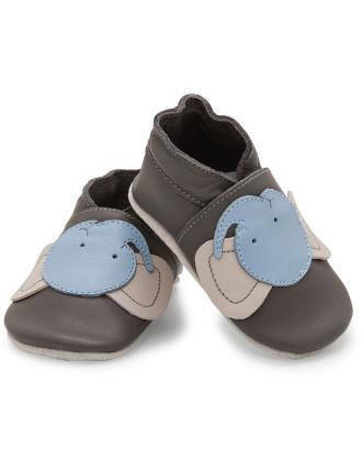 Boys Soft Sole Shoes Grey Elephant
