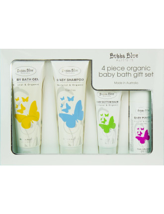 4 Piece Organic Baby Bath Gift Set