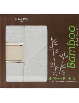 Bamboo 4 Piece Bath Gift Set