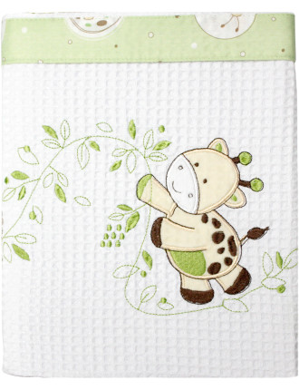 Playtime Cot Cotton Waffle Blanket
