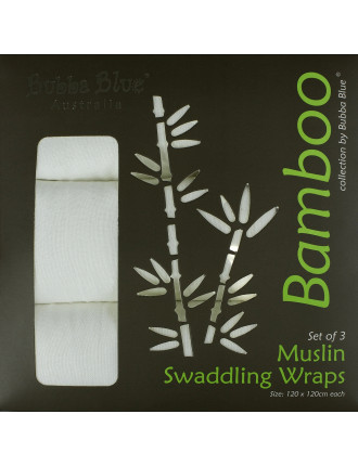 Bamboo Pack Of 3 Muslin Wraps