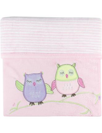 Baby Owl Velour Blanket