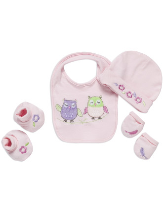 Baby Owl 4pcs Newborn Layette Set