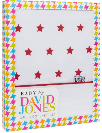 Stars 3 Piece Sheet Set