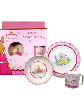 Sweethearts 3 Piece Melamine Set