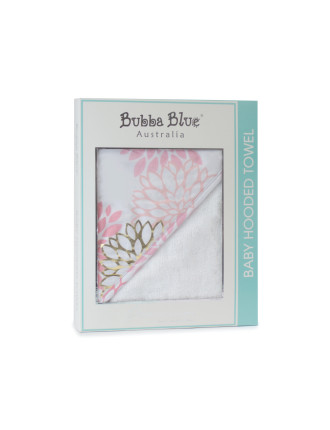 Bubba Blue Flamingo Velour Hooded Towel