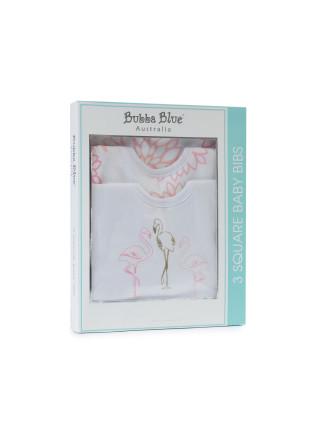 Bubba Blue Flamingo 3 Pack Bib Gift Box