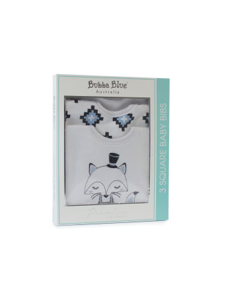 Bubba Blue Mr Fox 3 Pack Bib Gift Box