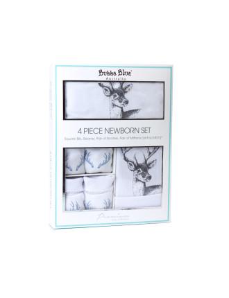 Deer 4 Piece Newborn Layette Set