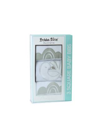 Bird Nest 3 Pack Bib Gift Box
