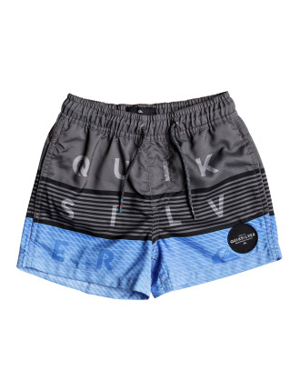 Word Block Volley Boy 11 Boardshort (Boys 2-7 Years)