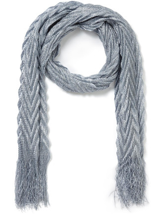 Girls Metallic Scarf