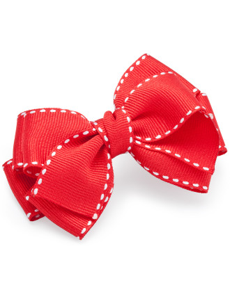 Grosgrain Triple Bow Snap Clips