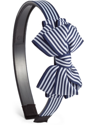 Striped Triple Bow Alice Band