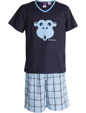 Boys Pacific Check Pj Set