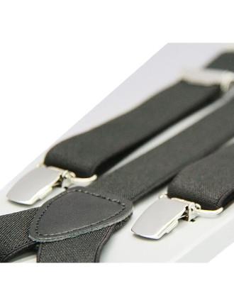 Boys Self Adjustable Braces - Black