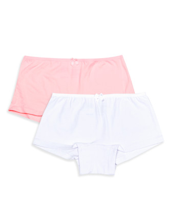 Girls 8-14 2pk Shorties - Plain