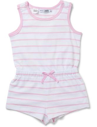 Girls Sleep Playsuit - Stripe