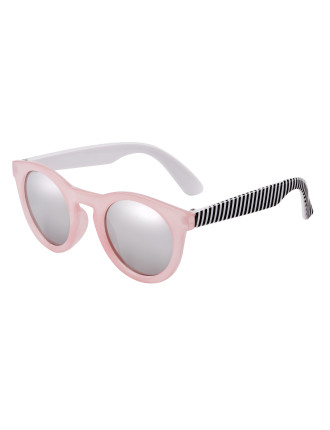 Candy - Round Pink/Black/White Stripe