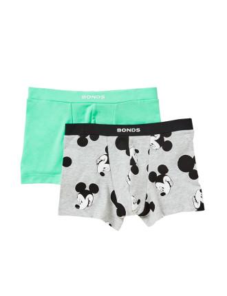 Boys Disney Hip Trunk 2pk