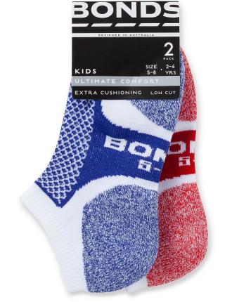Ultimate Comfort Low Cut Socks 2pk