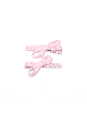 Grosgrain Bow Squeeze Clips