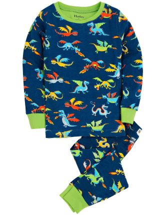 Boys Age 2-7 Dragons PJ Set