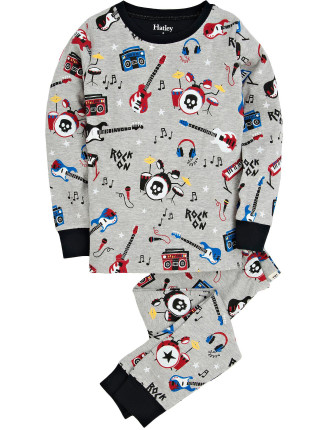 Boys Age 8-12 Rock Band PJ Set