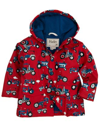Boys 2-8 Printed Raincoat - Farm Tractors