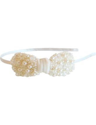 Pretty In Cream Bow Headband