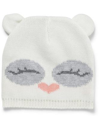 Owl Face Ears Beanie