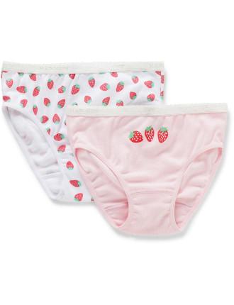 2pk Undies - Strawberries