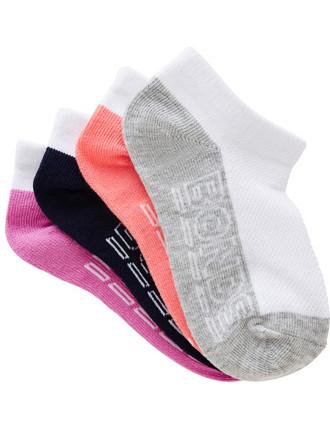 Girls Logo 4pk socks