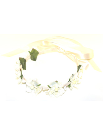 BLOSSOM RIBBON WRAPPED GARLAND