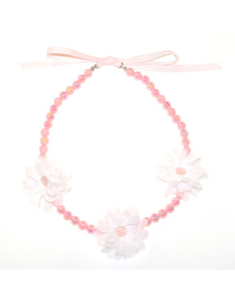 3 DAISY BEAD NECKLACE