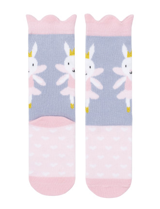 Ballet Rabbit Ankle Sock With Wings