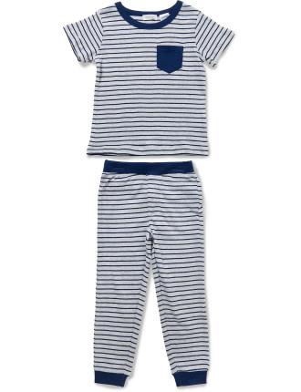 Mini Stripe SS Tee PJ Set