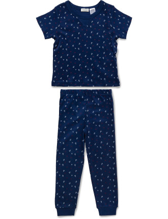 Anchors Away SS Tee PJ Set