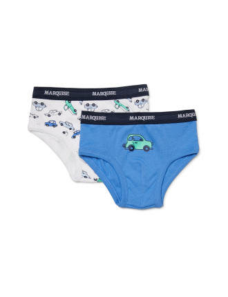 BOYS 2PK NOVELTY UNDIES CARS