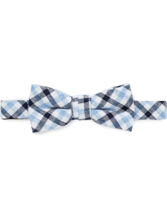 Self Fabric Loop Check Bowtie (Boys)