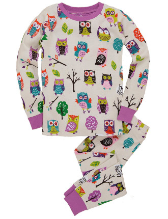 Girl 2-7 PJ Party Owls Yardage