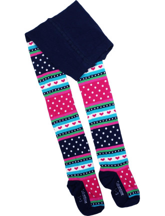 Fairisle Multi Knit Tights