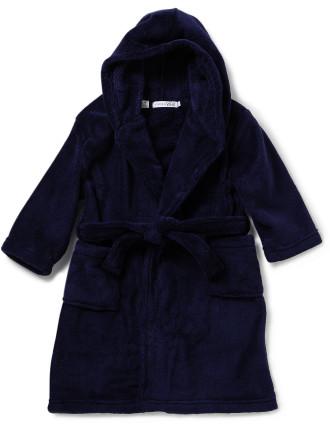 Boys 2-7 Fleece Robe 290gsm Coral Fleece