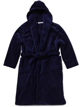 Boys 8-14 Fleece Robe 290gsm Coral Fleece