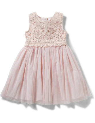 Sophia Lace Yoke Dress