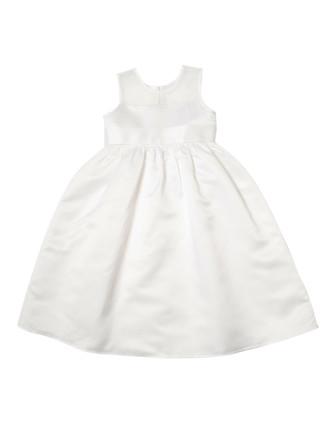 Plain Duchess Satin/Organza Dress