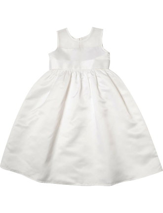 Plain Duchess Satin/Organza Dress