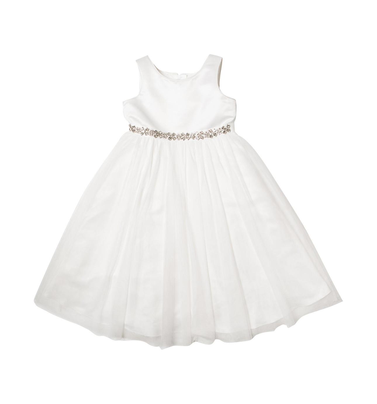 White dress david jones - Diamante Trimmed Dress
